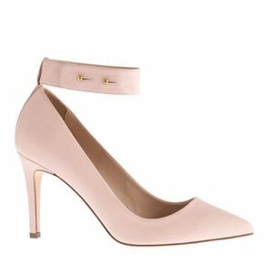 J.Crew Pink Pumps with Ankle Cuff